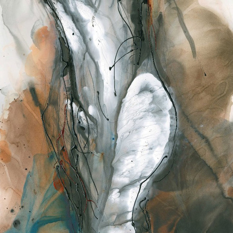 Water media painting, Torso by Christine Alfery