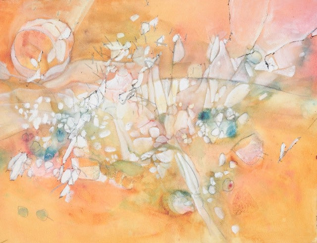 Water media painting, Trusting Nature's Embrace by Christine Alfery