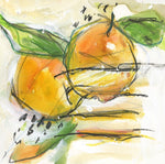 Watermedia painting, Two Pears by Christine Alfery