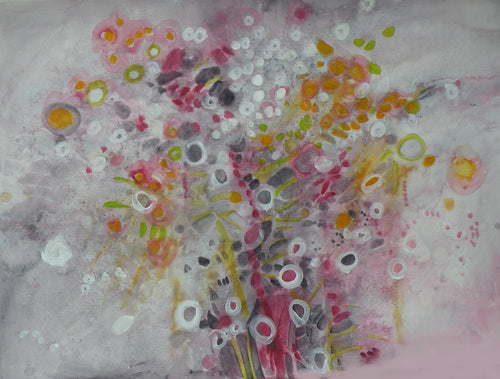Water media painting, Apple Blossoms by Christine Alfery