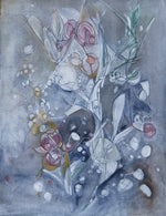 Water media painting, Berries on a Branch by Christine Alfery