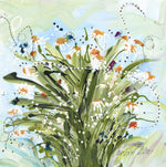 Water media painting, Bunch of Daisies by Christine Aflery
