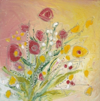 Water media painting, Buttercups by Christine Alfery