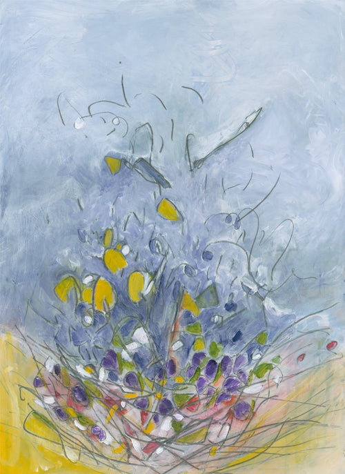 Water media painting, Crocus by Christine Alfery