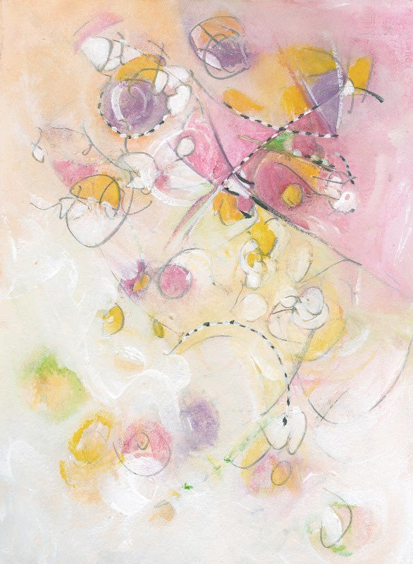 Water media painting, Frolic  by Christine Alfery