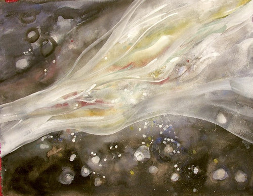 Water media painting, Galaxy by Christine Alfery