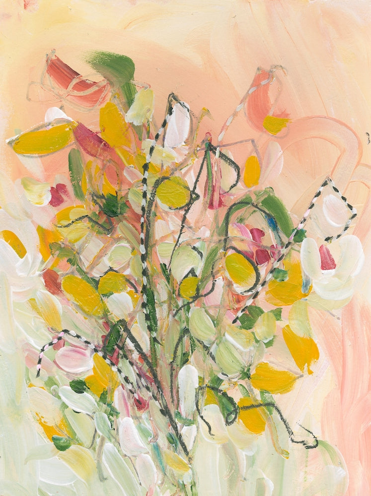 Water media painting, November Bouquet I  by Christine Alfery