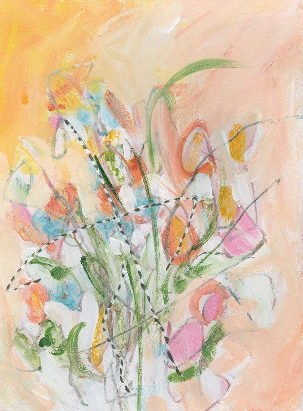 Water media painting, November Bouquet II by Christine Alfery