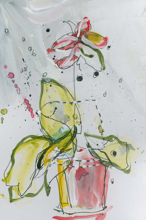 Water media painting, Orchid by Christine Alfery