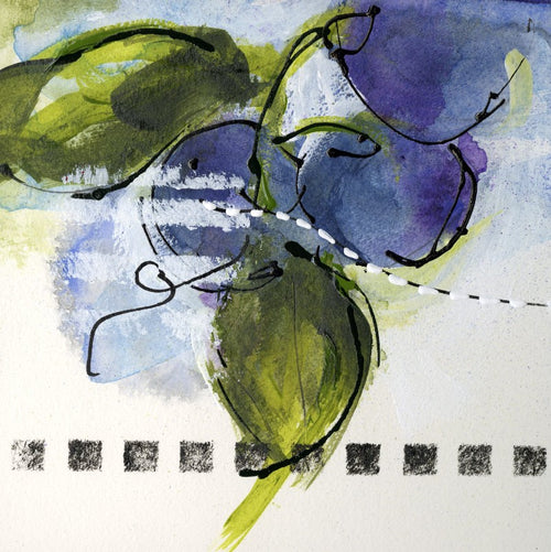 Water media sketch, Plums by Christine Alfery