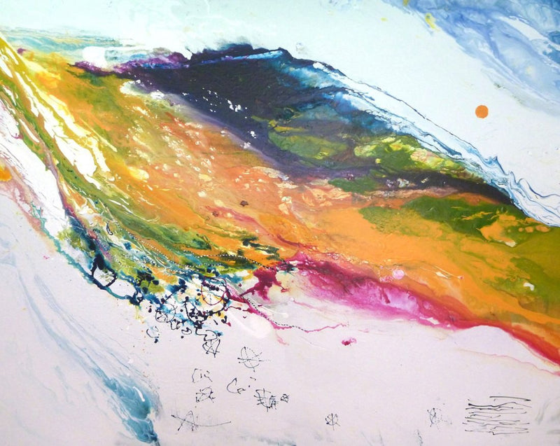 Water media painting, Release Me IV by Christine Aflery