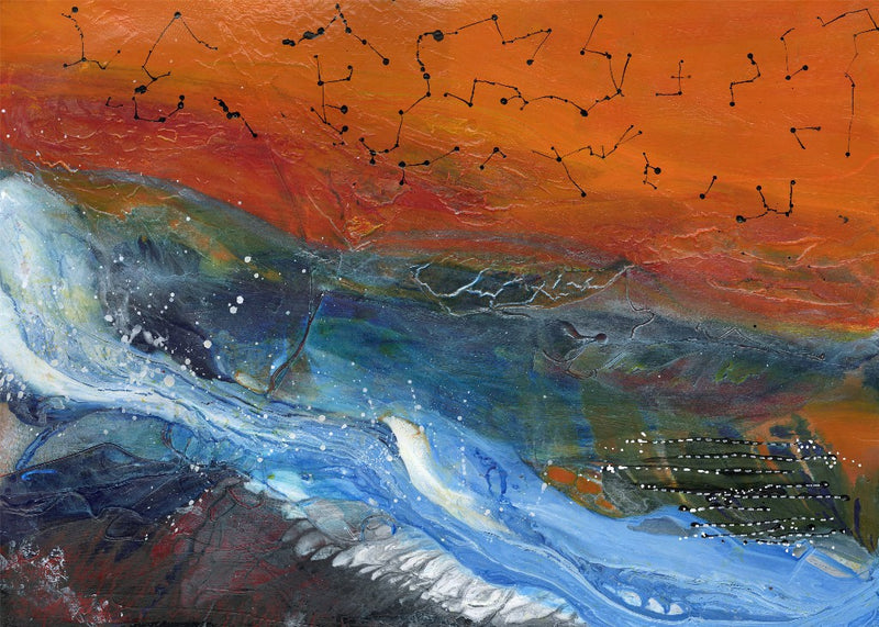 Water media painting, Springtime Thaw by Christine Alfery