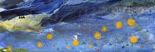 Water media painting, Stars in the Sky by Christine Alfery