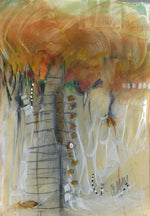 Water media painting, Stepping Stones  by Christine Alfery