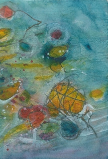 Water media painting, Sticks and Stones and Rainbows by Christine Alfery