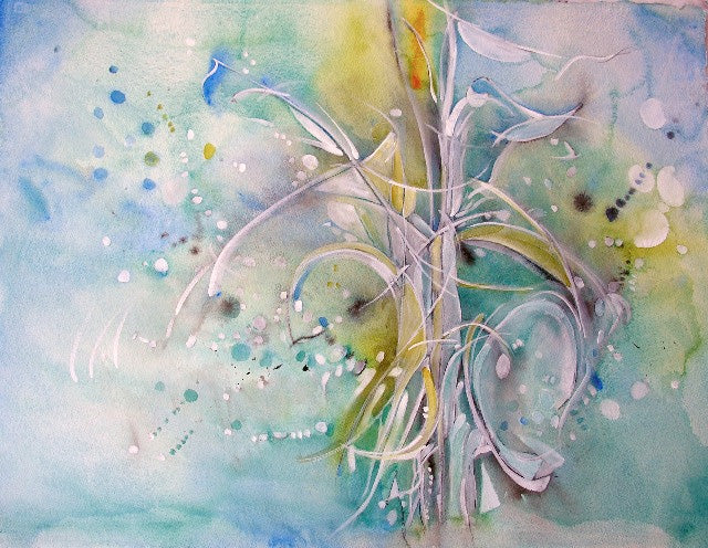 Water media painting, The Flame by Christine Alfery