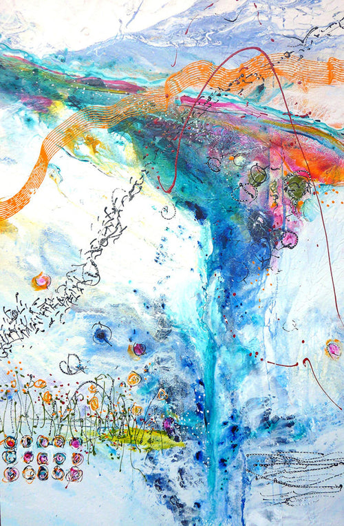 Water media painting, The Song the Wind Sings by Christine Alfery