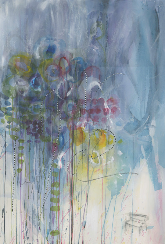 Water media painting, Watching the Storm Approach by Christine Alfery