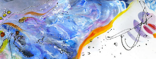 Water media painting, Wing by Christine Alfery