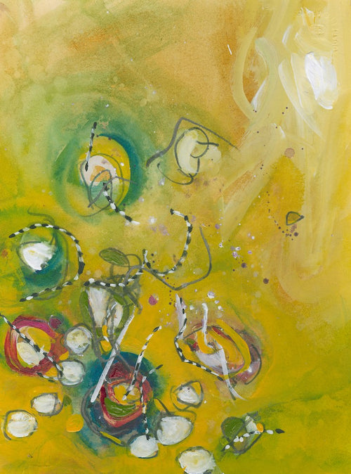 Water media painting, WPIT Sunshine I by Christine Alfery