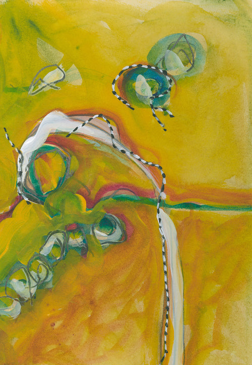 Water media painting, WPIT Sunshine II by Christine Alfery