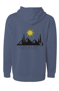 the revive pigment slate blue hoodie