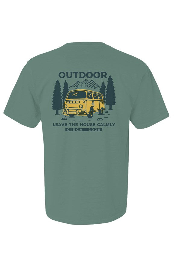 the outdoors light green short sleeve