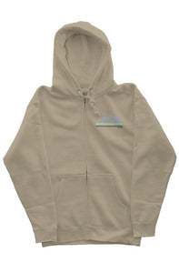 the mountains sandstone blues zipper hoodie