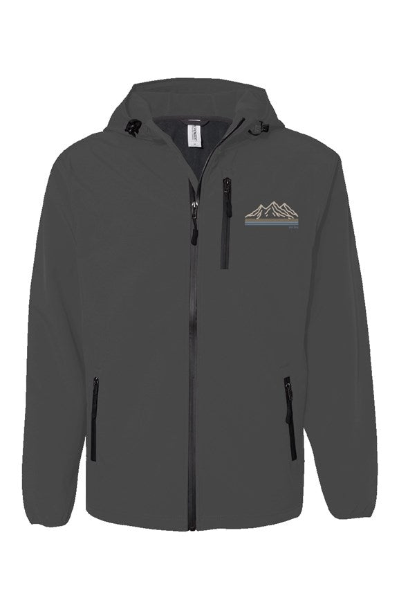 the mountains graphite sands poly tech jacket