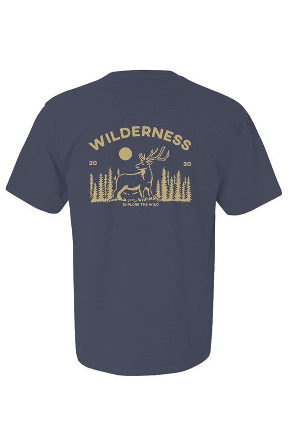 the wilderness denim short sleeve