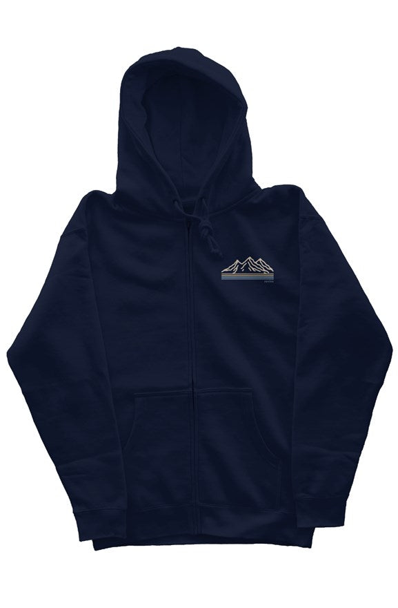 the mountains navy sands zipper hoodie