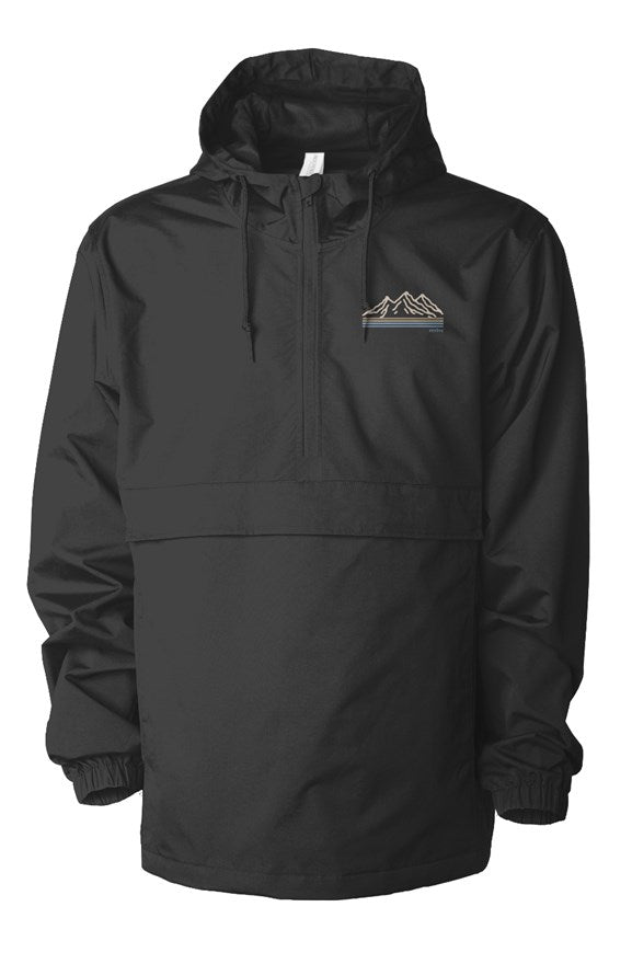 the mountains black sands anorak jacket