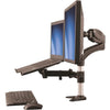 "StarTech.com Single-Monitor Arm - Laptop Stand - One-Touch Height Adjustment - Supports a single monitor up to 27"" and a laptop"