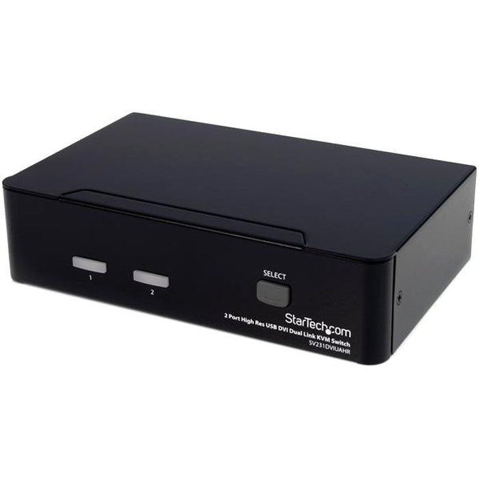 StarTech.com 2 Port High Resolution USB DVI Dual Link KVM Switch with Audio