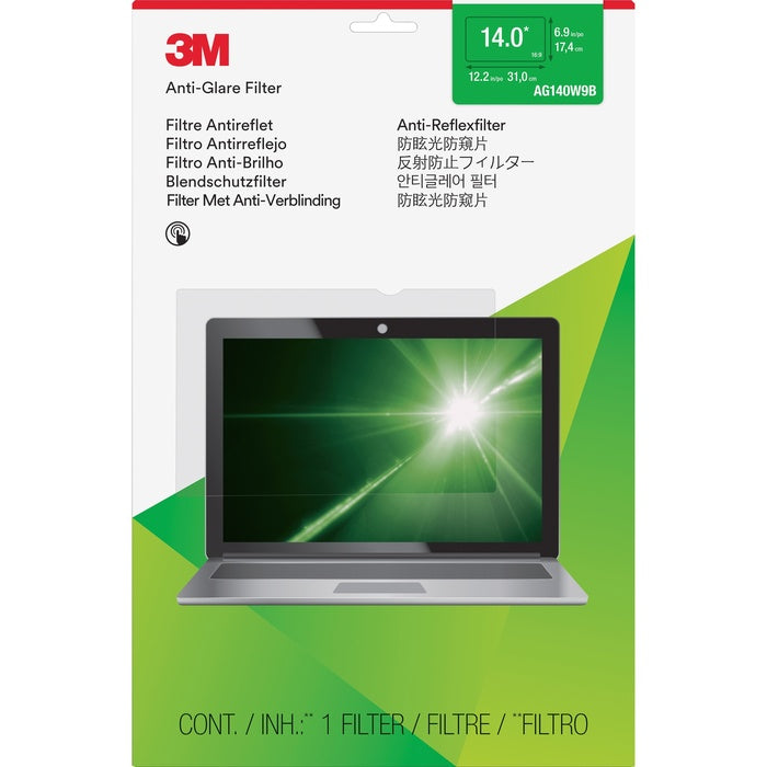 "3M Anti-Glare Filter for 14"" Widescreen Laptop"