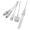 4XEM 30-Pin To RCA Audio Male Plus USB Charging Combo Cable