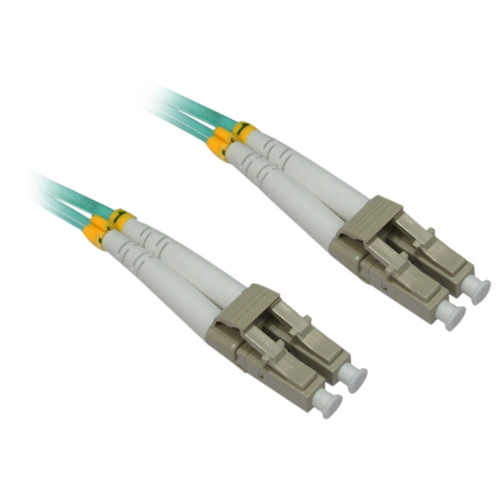 4XEM 1M AQUA Multimode LC To LC 50/125 Duplex Fiber Optic Patch Cable