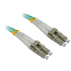 4XEM 5M AQUA Multimode LC To LC 50/125 Duplex Fiber Optic Patch Cable