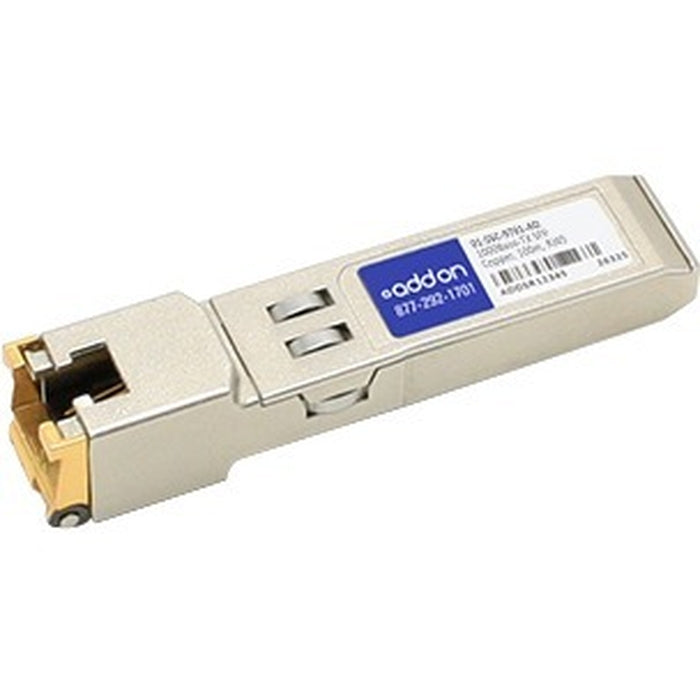 AddOn Sonicwall 01-SSC-9791 Compatible TAA Compliant 10/100/1000Base-TX SFP Transceiver (Copper, 100m, RJ-45)