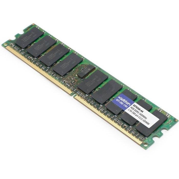 AddOn AA160D3N/4G x1 Lenovo 03T6566 Compatible 4GB DDR3-1600MHz Unbuffered Dual Rank 1.5V 240-pin CL11 UDIMM