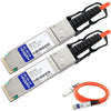 AddOn Extreme Networks 10317 Compatible TAA Compliant 40GBase-AOC QSFP+ to QSFP+ Direct Attach Cable (850nm, MMF, 50m)