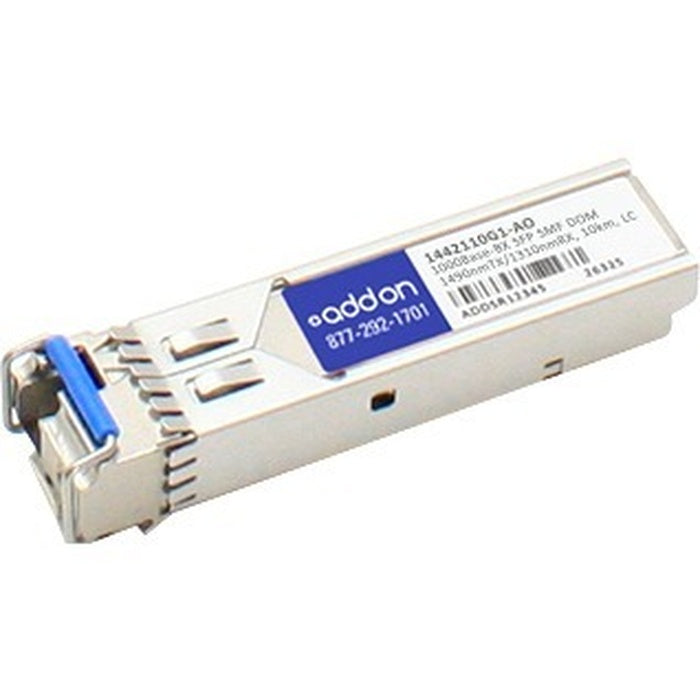 AddOn AdTran 1442110G1 Compatible TAA Compliant 1000Base-BX SFP Transceiver (SMF, 1490nmTx/1310nmRx, 10km, LC, DOM)