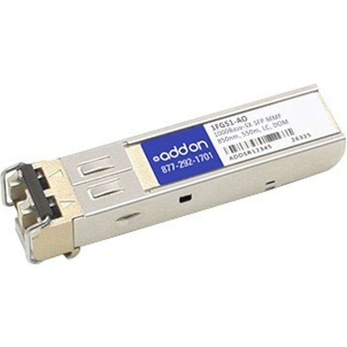 AddOn RuggedCom 1FG51 Compatible TAA Compliant 1000Base-SX SFP Transceiver (MMF, 850nm, 550m, LC, DOM, Rugged)