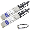 AddOn Brocade 40G-QSFP-C-0101 Compatible TAA Compliant 40GBase-CU QSFP+ to QSFP+ Direct Attach Cable (Passive Twinax, 1m)