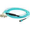 AddOn 40m MPO (Female) to 8xLC (Male) 8-strand Aqua OM3 Fiber Fanout Cable