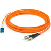 AddOn 5m LC (Male) to ST (Male) Orange OM1 Duplex Fiber OFNR (Riser-Rated) Patch Cable
