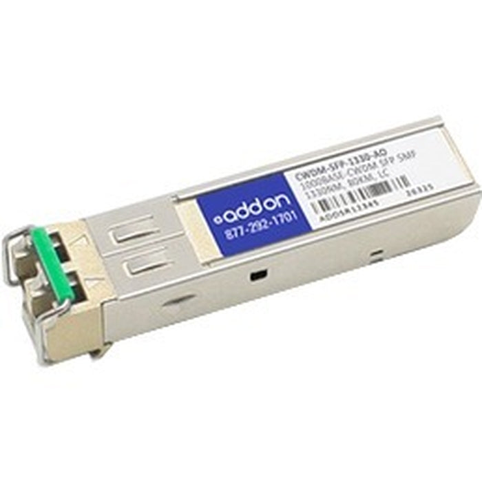 AddOn Cisco CWDM-SFP-1330 Compatible TAA Compliant 1000Base-CWDM SFP Transceiver (SMF, 1330nm, 70km, LC)