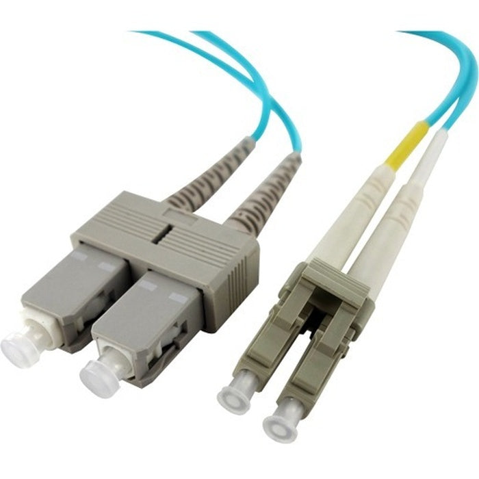 Axiom LC/SC Multimode Duplex OM4 50/125 Fiber Optic Cable 25m