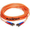 Axiom LC/ST Multimode Duplex OM1 62.5/125 Fiber Optic Cable 2m