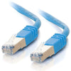 C2G 14ft Cat5e Molded Shielded (STP) Network Patch Cable - Blue